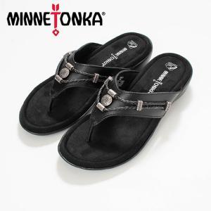 MINNETONKA  ミネトンカ SILVERTHORNE 360 Black MTK-504001 サンダル サンダル スエード ナチュラル服 20代 30代 40代 50代カジュアル シンプル asahiya-group-first