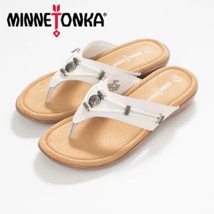 MINNETONKA  ミネトンカ SILVERTHORNE 360 White MTK-504100 サンダル ナチュラルファッション ナチュラル服 40代 50代 カジュアル シンプル asahiya-group-first