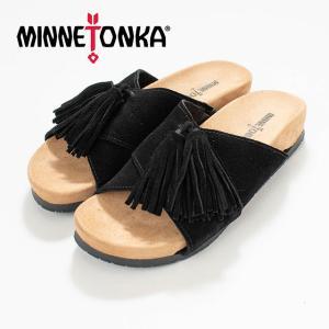 MINNETONKA  ミネトンカ MILA Black MTK-5690001 サンダル スエード ナチュラルファッション ナチュラル服 20代 30代 40代 50代 カジュアル シンプル asahiya-group-first