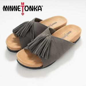 MINNETONKA ミネトンカ MILA Grey MTK-5690039 サンダル スエード ナチュラルファッション ナチュラル服 20代 30代 40代 50代 カジュアル シンプル asahiya-group-first