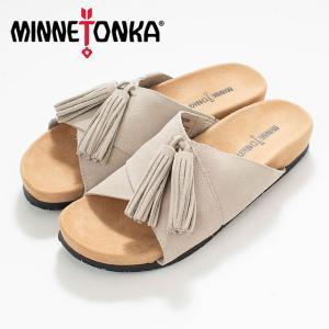 MINNETONKA ミネトンカ MILA Stone MTK-5690280  サンダル スエード ナチュラルファッション ナチュラル服 20代 30代 40代 50代 カジュアル シンプル asahiya-group-first