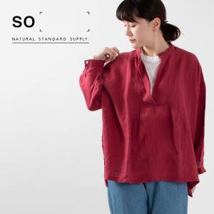 SO [エスオー] スキッパーブラウス SA-0106 ナチュラルファッション ナチュラル服 40代 50代 大人コーデ カジュアル シンプル|asahiya-group-first