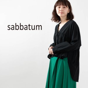 sabbatum [サバタム]前後差Vネックブラウス SA-24003 ナチュラルファッション ナチュラル服 40代 50代 大人コーデ 大人かわいい カジュアル asahiya-group-first