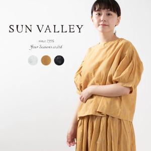 SUN VALLEY [サンバレー]綿麻総柄プリントブラウス SK5020215 ナチュラルファッション ナチュラル服 40代 50代 大人コーデ 大人かわいい カジュアル|asahiya-group-first