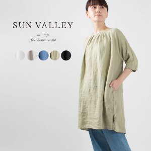 SUN VALLEY [サンバレー]フレンチリネンチュニック SK5036211ナチュラルファッション ナチュラル服 40代 50代 大人コーデ カジュアル シンプル|asahiya-group-first