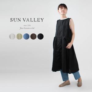 SUN VALLEY [サンバレー]フレンチリネン2WAYワンピース SK5037212ナチュラルファッション ナチュラル服 40代 50代 大人コーデ 大人かわいい カジュアル|asahiya-group-first