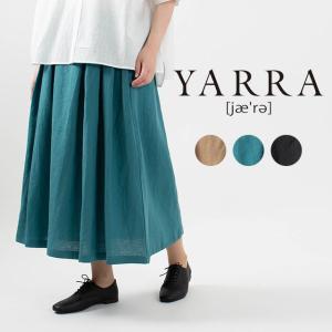 YARRA フレンチリネンバックギャザースカート YR-212-079 ナチュラルファッション ナチュラル服 40代 50代 大人コーデ 大人かわいい カジュアル シンプル|asahiya-group-first