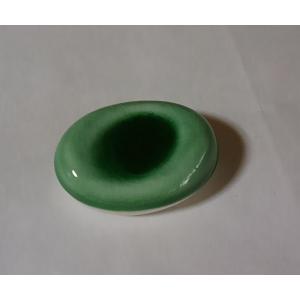 箸置き グリーン小判型 はしおき 陶磁器 業務用 ポイント消化