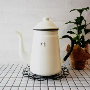 野田琺瑯 キリンコーヒーポット ホワイト 1.6L/13cm|asai-tool
