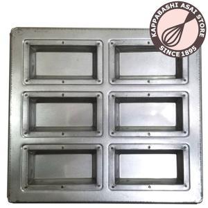 シリコン加工フィナンシェ天板 6P asai-tool