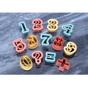 PCクッキー抜型数字 13P|asai-tool