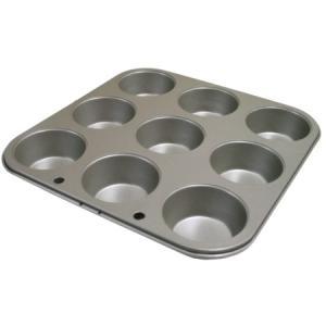 フッ素樹脂加工マフィンカップ型 9P|asai-tool