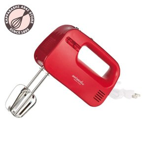 ★新商品★ミラクルス 電動ハンドミキサー レッド|asai-tool