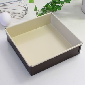 ラフィネ(raffine) ふっ素加工スクエアケーキ焼型 18cm 【ooo】|asai-tool