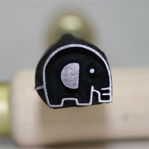 名匠手彫りのオリジナル焼印Lサイズ 【ゾウ】|asai-tool