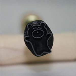 名匠手彫りのオリジナル焼印Lサイズ 【クマ】【ddd】|asai-tool