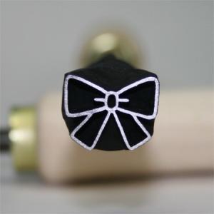 名匠手彫りのオリジナル焼印Lサイズ 【リボン】|asai-tool