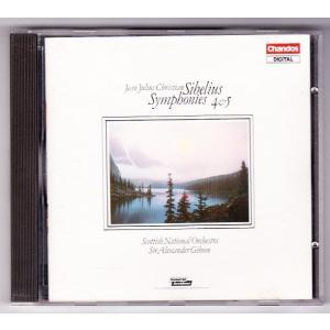 シベリウス 交響曲第4&5番  アレクサンダー・ギブソン(指揮) スコットランド国立管弦楽団  中古...