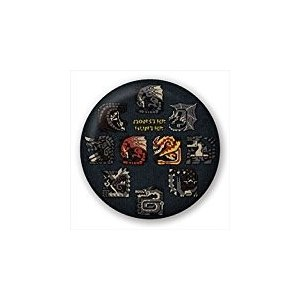 【新品】【MH4】モンスターハンター ビッグサイズ刺繍缶バッジ[お取寄せ品] asakusa-mach