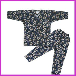 ■メール便1点まで対応可■  鯉口シャツ パンツ 子供 桜 鉄紺 祭り ダボシャツ ズボン (z奴E...