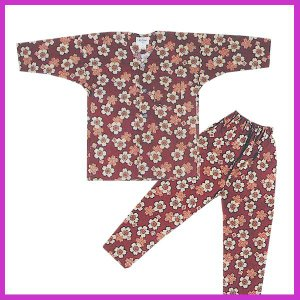 ■メール便1点まで対応可■  鯉口シャツ パンツ 子供 桜 エンジ 祭り ダボシャツ ズボン (z奴...