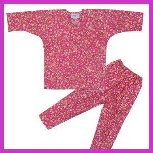 鯉口シャツ パンツ 子供 小桜 祭り ダボシャツ ズボン (z奴E1311) ◆小桜柄の鯉口シャツ・...