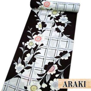 """""""ARAKI""""のゆかた反物です。 綿100%(かわり織り)"""
