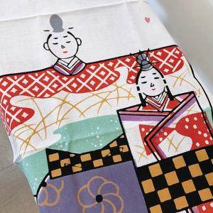 絵てぬぐい「おひなさま」四季 春 /手ぬぐい 手拭い タオル 日本製 海外お土産 外国人 プレゼント...