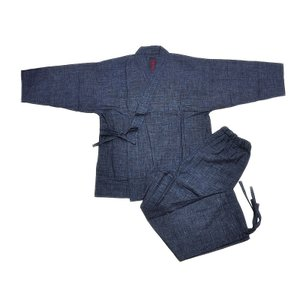 ◆笹倉玄照堂◆作務衣 -ピンチェック- asanoya