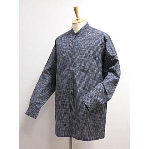 【久留米織】紳士用 スタンドカラーシャツ -縞- asanoya