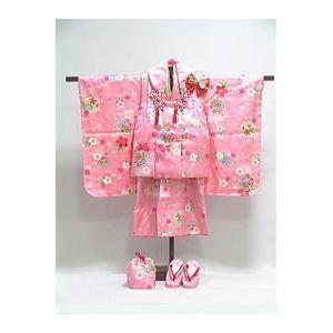 七五三3歳女の子用  正絹 着物・被布・小物セット  [ 0608-003 ]|asanoya