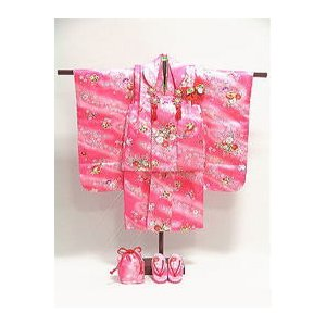 七五三3歳女の子用 ポリエステル 着物・被布・小物セット|asanoya