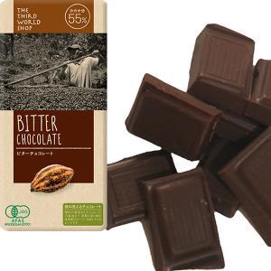 フェアトレードビターチョコレート 100g 【オーガニック 有機栽培】【添加物不使用】【冬季限定】【メール便対応不可】|asante