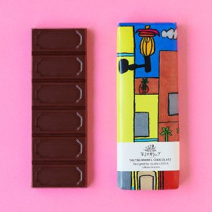 Artisan フェアトレードチョコレート ソルト&キャラメル(ヨーロッパの街) 40g|asante