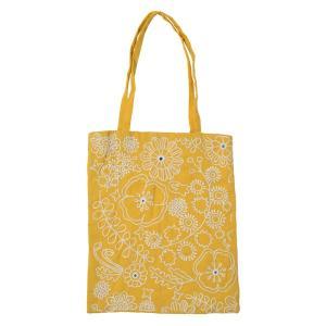 ミラー刺繍ミニトート ミモザ柄(黄色)|asante