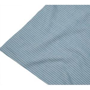 カディ草木染クロス ダブルストライプ(藍)|asante