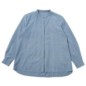 カディ 草木染手織りのスタンダードブラウス(藍)|asante