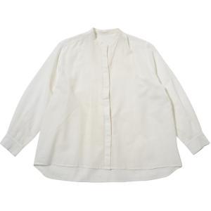 カディ 手織りのスタンダードブラウス(白)|asante
