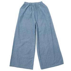 カディ 草木染手織りのワイドパンツ(藍)|asante
