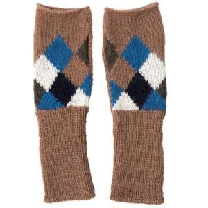 アルパカ100% 指なし手袋(ランバスキャメル)|asante