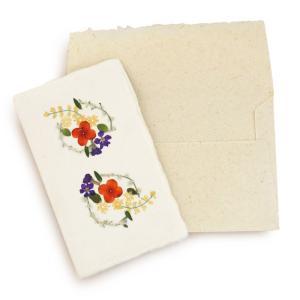 手漉き紙 ミニカード(花冠N) asante