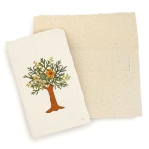 手漉き紙 ミニカード(木O) asante