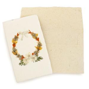 手漉き紙 ミニカード(リースP)|asante