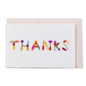 手漉き紙 ミニカード THANKS|asante