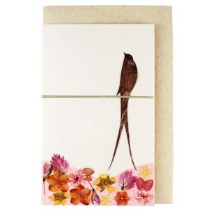 手漉き紙 ミニカード 鳥 asante