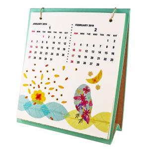 手漉き紙 2019卓上カレンダー asante