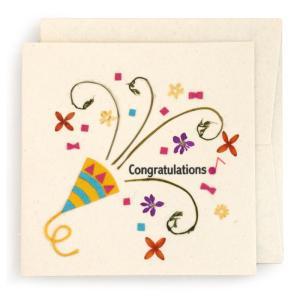 手漉き紙 お祝いカード(白)|asante