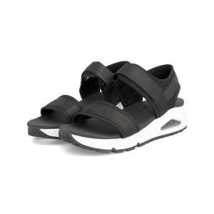 SKECHERS スケッチャーズ UNO-NEW SESH レディースサンダル ウノニューセッシュ 119185 BKW ブラック ホワイト|靴の通販総合オンラインASBee