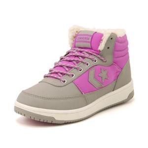 converse(コンバース) CV SK BOOTS BOA L HI(CVSKブーツボアLハイ) 32699387 グレー/ピンク asbee