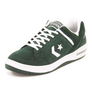 converse(コンバース) WEAPON SUEDE OX(ウエポンスウェードOX) 32669064 グリーン/ホワイト|asbee